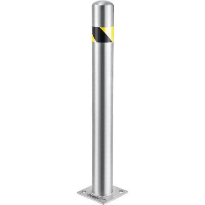 "Global Industrial™ Safety Bollard, Stainless Steel, 42"" H x 4-1/2"" Diameter"