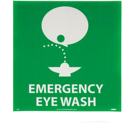 Graphic Facility Signs - Emergency Eye Wash - Vinyl 7x7