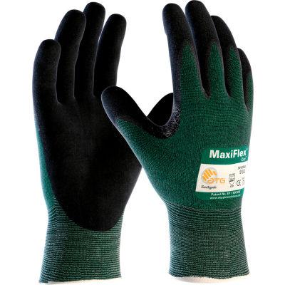 PIP MaxiFlex® Cut™ Micro-Foam Nitrile Coated Gloves, Black, Large, 12 Pairs - Pkg Qty 12