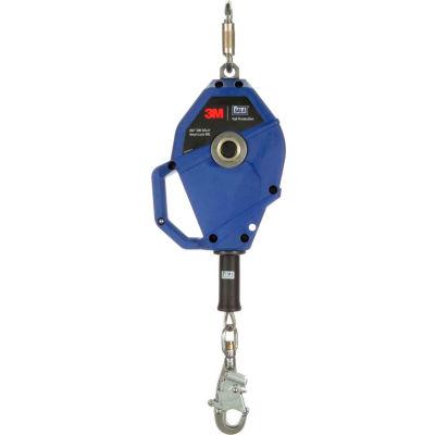 3M™ DBI-SALA® Smart Lock Self-Retracting Lifeline, 20' Stainless Steel Cable, Blue 3503804