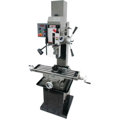 JET® 351051 JMD-45VSPFT Variable Speed Geared Head Square Column Mill Drill with Power Downfeed