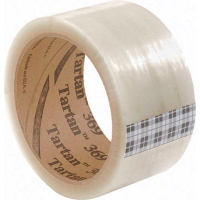 "3M™ Tartan™ 369 Carton Sealing Tape 3"" x 110 Yds. 1.6 Mil Clear - Pkg Qty 24"