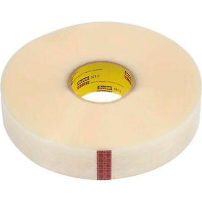 "3M™ Scotch® 371+ Machine Length Carton Sealing Tape, 2"" x 1000 Yds. 1.9 Mil Clear - Pkg Qty 6"