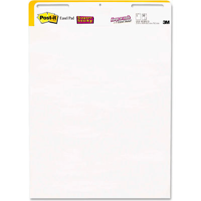 "Post-it® Easel Pads Self-Stick Wall Easel UnRule Pad 559STB, 25"" x 30"", White, 30 Shts, 2/Pack"