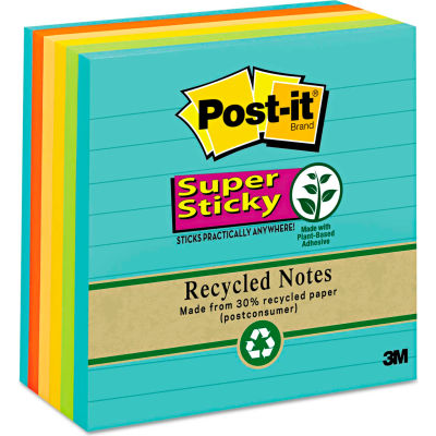 "Post-it® Super Sticky Notes 6756SSNRP, 4"" x 4"", Farmers Market, 90-Sheets, 6/Pack"