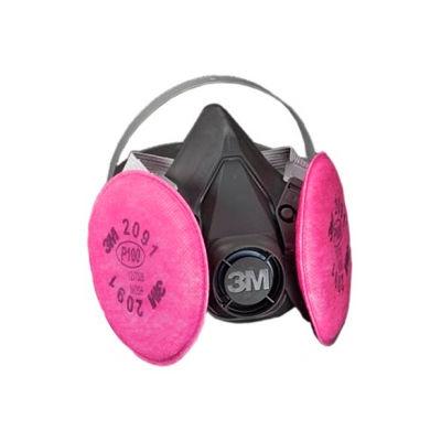3M™ Half Facepiece Reusable Respirator Assembly 6391/07001(AAD), P100, Large