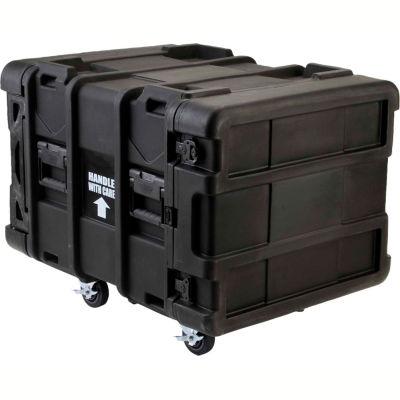 """SKB Cases 24"""" Deep 8U Roto Shock Rack 3SKB-R908U24 Black, Keyed Lock, Water Resistant"""