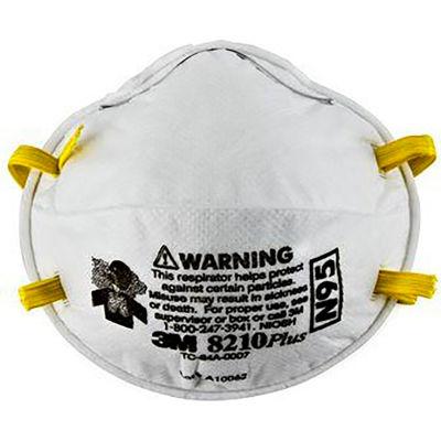 3M™ 8210PLUS N95 Disposable Particulate Respirators, Box of 20