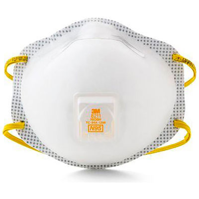 3M™ 8211 N95 Disposable Particulate Respirator, 10/Box