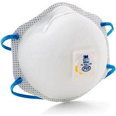 3M™ 8271 P95 Disposable Respirator w/ Exhalation Valve, 10/Box