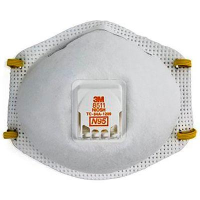 3M™ 8511 N95 Disposable Respirator w/ Exhalation Valve, 10/Box