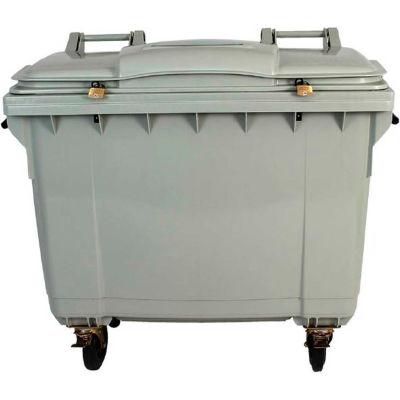 HSM® 4 WHEELSecure Mobile Shredder Cart - 175-Gallon Capacity - Gray