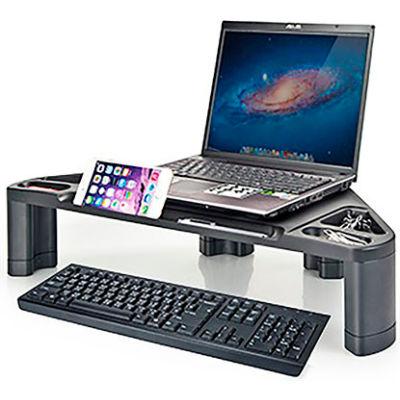 Aidata CS-1010 Corner Monitor/Laptop Stand with Smart Device Slot