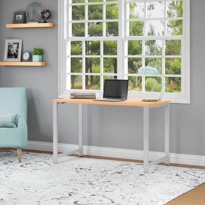 "Bush Furniture 48""W x 24""D Table Desk - Natural Maple - 400 Series"