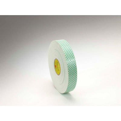 "3M™ 4016 Double Coated Urethane Foam Tape 1/2"" x 36 Yds. 62 Mil Off White - Pkg Qty 18"