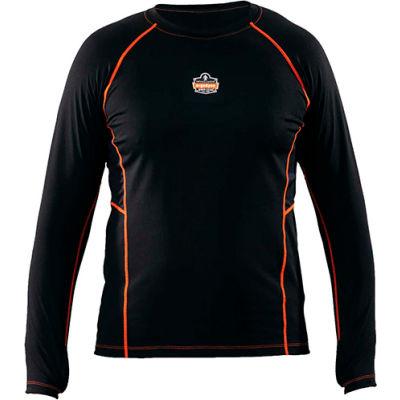 Ergodyne N-Ferno® 6435 Thermal Base Layer Long Sleeve Shirt, Black, 3XL
