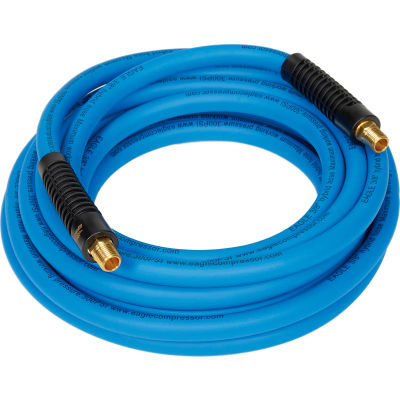 """Eagle EA3/8X25-B 3/8""""x25' 300 PSI Hybrid Polymer All Weather Low Pressure Air/Water Hose"""