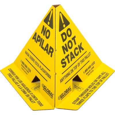 """Global Industrial™ Trilingual """"Do Not Stack"""" Pallet Cones - 50 Pack"""