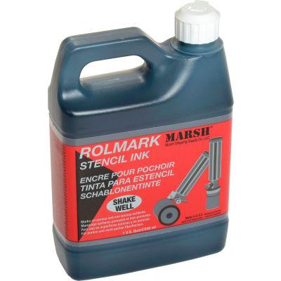 Marsh® 20903 Rolmark Stencil Ink, 1 Quart, Black