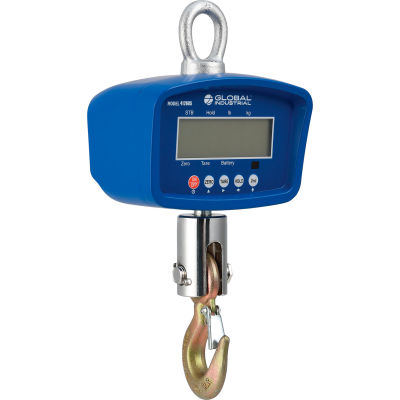 Global Industrial™ LCD Digital Crane Scale With Remote, 3,000 lb x 1 lb