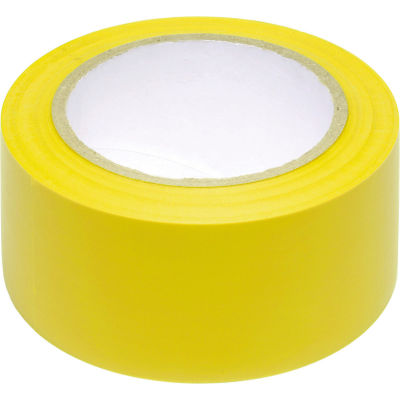 """INCOM® Safety Tape Solid Yellow, 6 Mil Thick, 2""""W x 108'L, 1 Roll"""