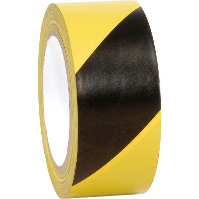 """INCOM® Striped Hazard Warning Tape, Yellow/Black, 2""""W  x 108'L, 1 Roll"""