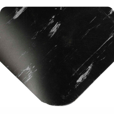 """Wearwell® Tile-Top™ SpongeCote® Anti Fatigue Mat 1/2"""" Thick 3' x Up to 60' Black"""