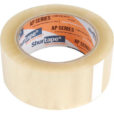 "Shurtape® AP 101 Carton Sealing Tape 2"" x 110 Yds. 1.6 Mil Clear - Pkg Qty 36"