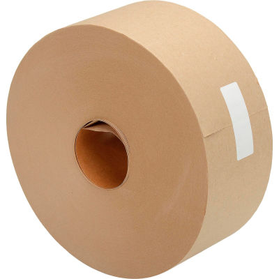 "Kraft Water Activated Tape 3"" x 600' 5 Mil Tan - Pkg Qty 10"