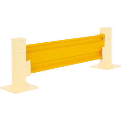 Global Industrial™ Protective Steel Rail Barrier, 4'L, Yellow