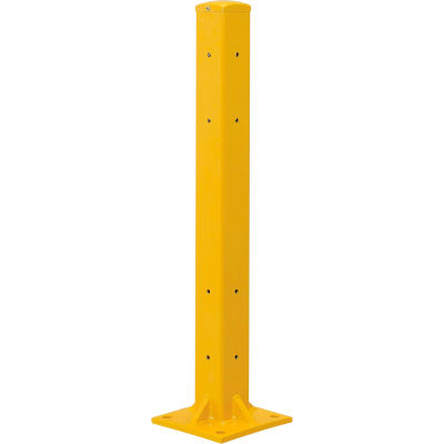 "42""H Protective Rail Barrier Post For Double Rail"