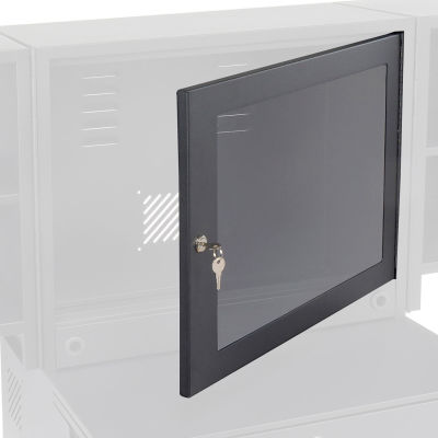 Optional Door with Acrylic Window For Global Industrial™ Fold-Out Computer Cabinet, Black