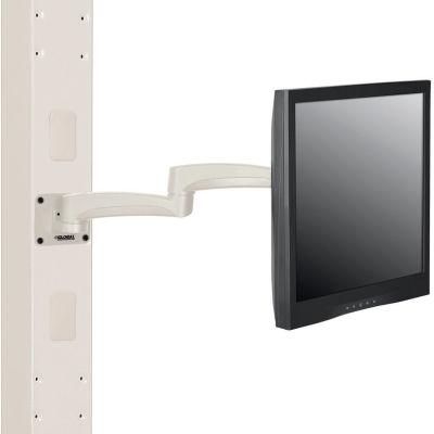 Global Industrial™ Fixed Height LED/LCD Flat Panel Monitor Arm with VESA Plate, Beige