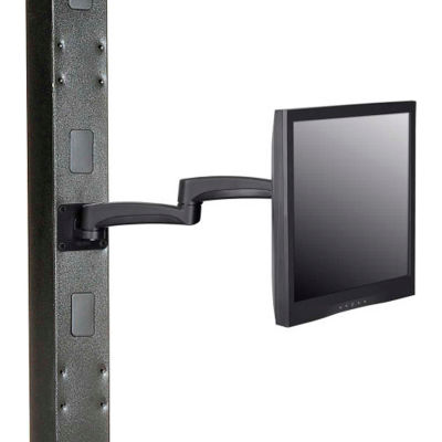 Global Industrial™ Fixed Height LED/LCD Flat Panel Monitor Arm with VESA Plate, Black