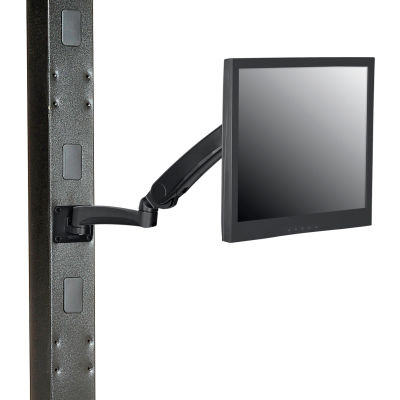 Global Industrial™ Gas Spring LED/LCD Flat Panel Monitor Arm with VESA Plate, Black