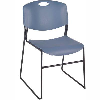 Regency Plastic Stack Chair - 400 lb. Capacity - Blue - 4/PK
