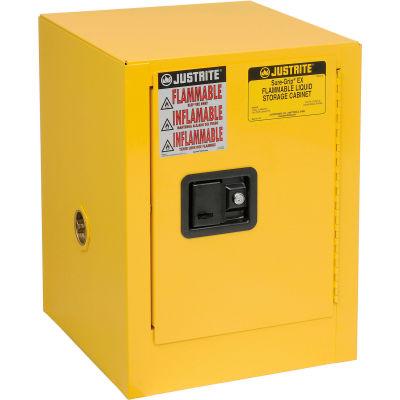 Justrite Flammable 4 Gallon Liquid Cabinet Manual Single Door Vertical Storage