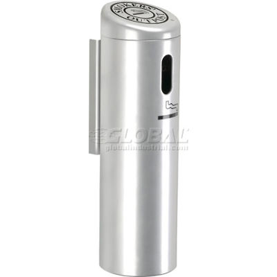Smokers Outpost® Wall Mounted Ashtray, Silver