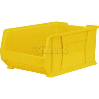 "Akro-Mils® Super-Size AkroBin® Plastic Stacking Bin, 16-1/2""W x 23-7/8""D x 11""H, Yellow"
