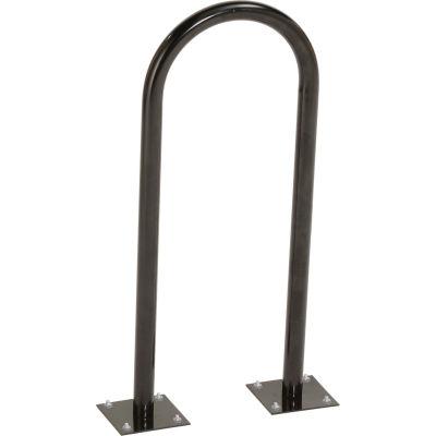 Global Industrial™ U-Rack Bike Rack, Black, 2-Bike, Flange Mount