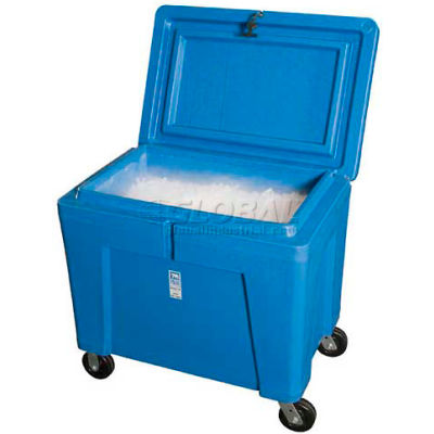 "Polar Chest Dry Ice Storage Container with Lid and Casters PB11HLC - 42""L x 29""W x 39""H"