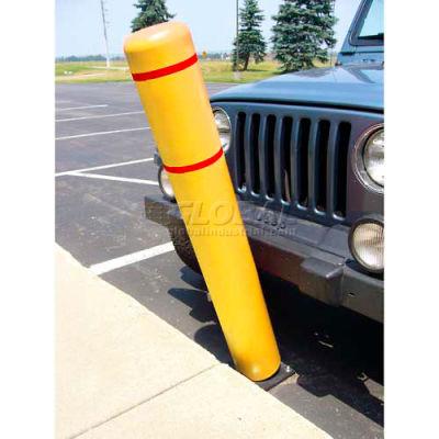 "72""H FlexBollard™ - Asphalt Installation - Yellow Cover/Red Tapes"