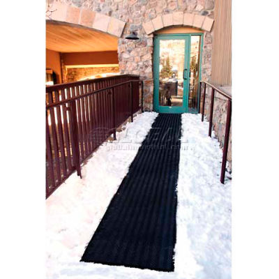 "HeatTrak® Outdoor Snow & Ice Melting Heated Walkway Mat 1/2"" Thick 2' x 5' 120 Volt Black"