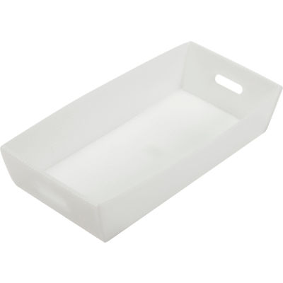 Global Industrial™ Corrugated Plastic Mail Tray 24-1/2 X 12 X 4-1/2 Natural - Pkg Qty 10