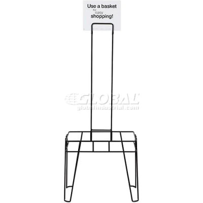 VersaCart ® Hand Basket Stand and Sign for 26 Liter Shopping Basket