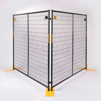 "Perimeter Patrol™ Welded Wire Black Powder Coat Fence - 7'6""Wx6'H 4 Panel Kit"