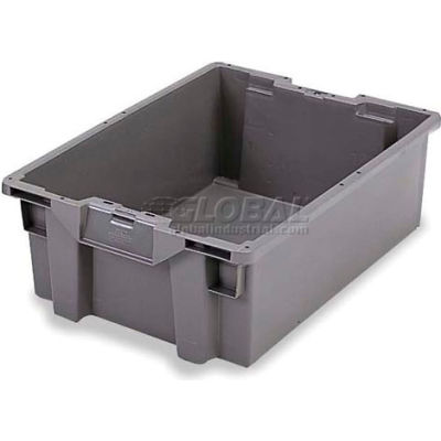 ORBIS Stack-N-Nest Pallet Container GS6040-27 - 23-5/8 x 15-3/4 x 10-3/4 Gray