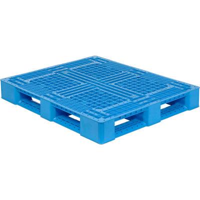 "Monoflo Rackable Plastic FDA & USDA Approved Pallet, Blue, 48"" x 40"", 4000 Lb. Capacity"