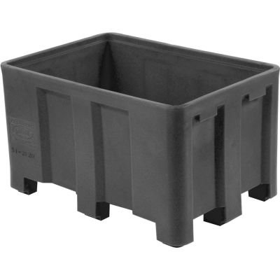 """Dandux Black Recycled Plastic Skid Container 512126X Double Wall  - 54""""L x 44""""W x 31""""H"""