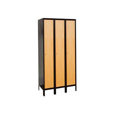 Hallowell UW3588-1MEW Wood/Metal Hybrid Locker Single Tier 15x18x72 3 Door Ready to Assemble